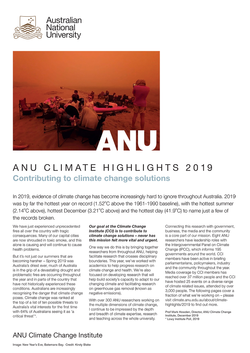 ANU Climate Highlights 2018