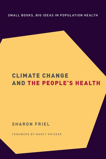 Climate Change and the People's Health book cover