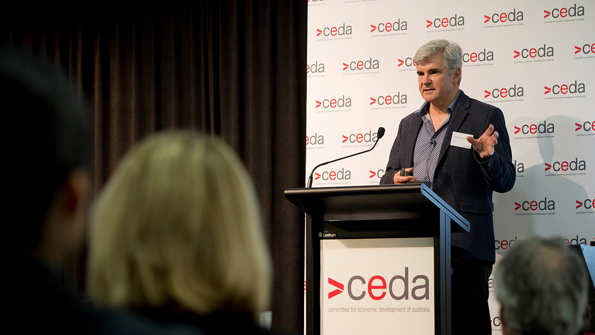 Professor Mark Howden, Director of the ANU Climate Change Institute speaking at CEDA