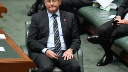 A photograph of Anthony Albanese and Labor frontbenchers sitting in the House of Representatives during Question Time.