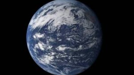 A photograph of planet Earth from space.