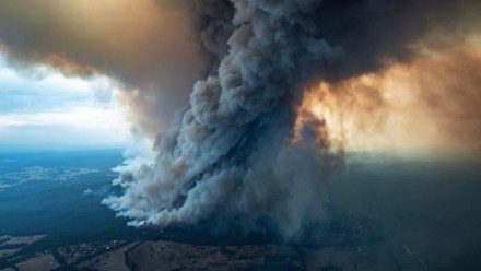 The bushfire emergency, arising from the drought, has become a national crisis.  Supplied DELWP Gippsland