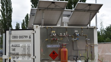 Evoenergy's hydrogen test facility at CIT campus, Fyshwick, ACT.