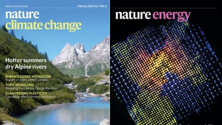 Nature - Climate Change and Nature - Energy publication covers