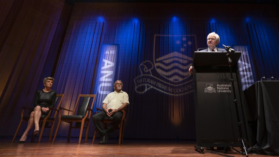 ANU Vice-Chancellor Brian Schmidt delivering the 2020 State of the University address