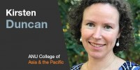 ANU Master of Climate Change student Kirsten Duncan