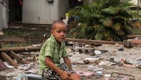 Climate change is expected to increase the severity of natural disasters in the Asia-Pacific region, straining Australia's ability to respond through humanitarian missions and fuelling more climate migration. Vlad Sokhin/UNICEF handout