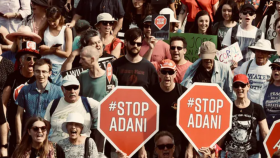 Protesters against the Adani coal mine