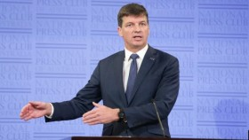 Minister for Energy and Emissions Reduction Angus Taylor during his address to the National Press Club.