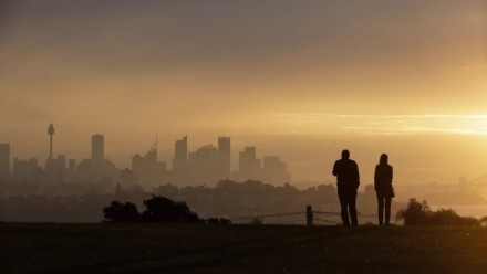 Heavy smoke haze over Sydney from Dover Heights. Credit:BROOK MITCHELL