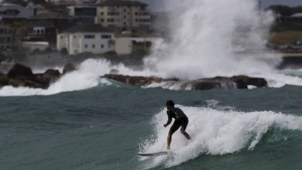 Large waves pound the coast at Coogee Picture Brook Mitchell