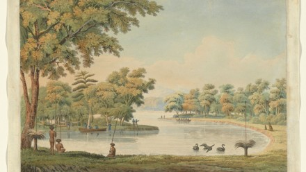 A painting of the Swan River in 1829. Credit: National Gallery of Australia