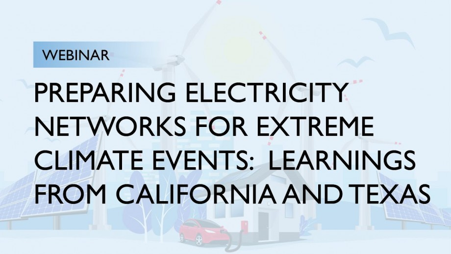 Preparing Electricity Networks for Extreme Climate Events | ERICA Webinar Series